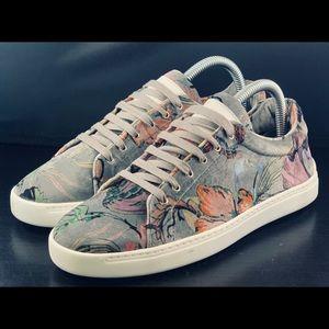 NEW Rag & Bone Kent Floral Low-Top Sneakers